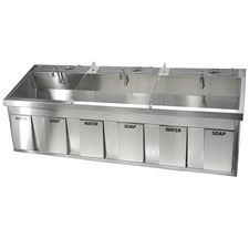 FHCSS96 Triple Surgical Scrub Sink