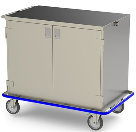Closed Wide Surgical Case Cart