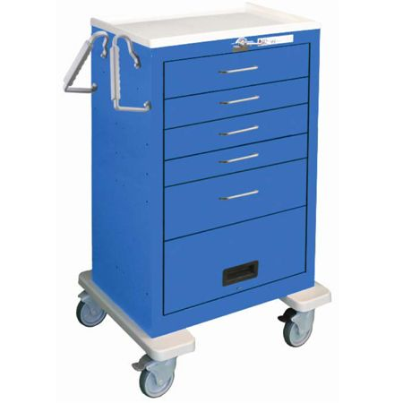 Waterloo 5 Drawer Emergency Breakaway Cart With 9 Crash