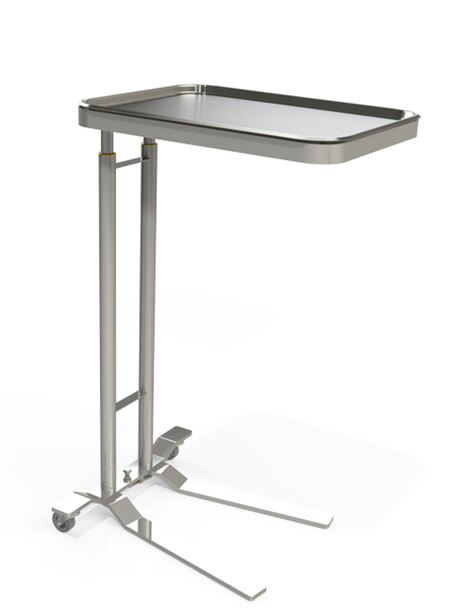 Fhc Foot Operated Dual Post Mayo Stand Mayo And Solution