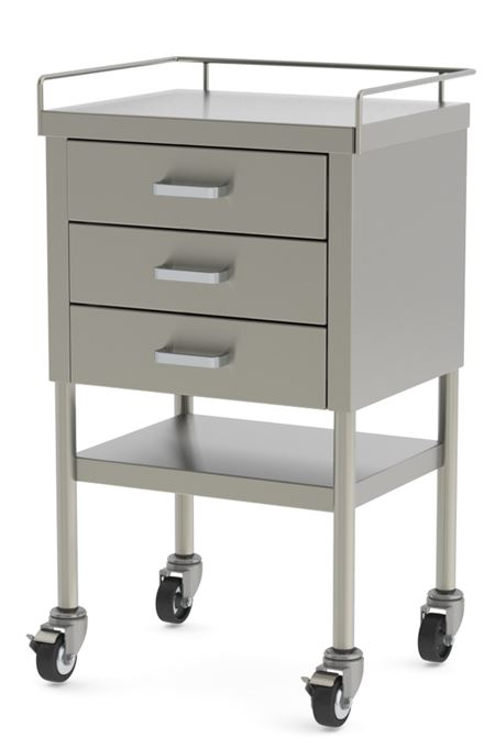 S Utility Table With Three Drawers