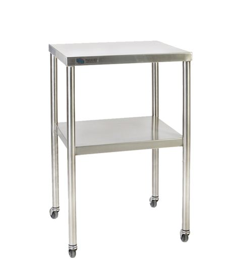 fhc stainless steel instrument table 16 x 20 instrument and utility tables future health. Black Bedroom Furniture Sets. Home Design Ideas