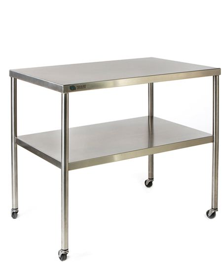Fhc Stainless Steel Instrument Table 24 X 36 Instrument