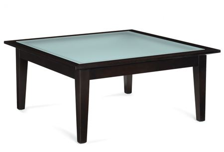 Global Dawson Square Coffee/Corner Table W/ Glass Top
