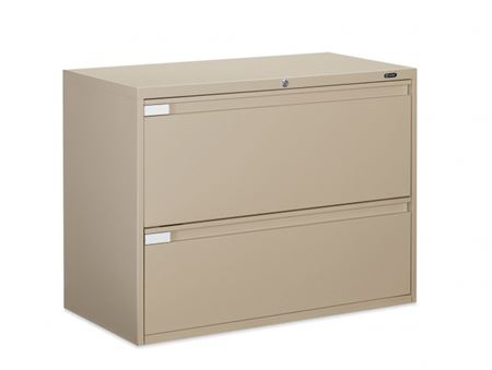 Global Two Drawer File Cabinet W Fixed Door Healthcare