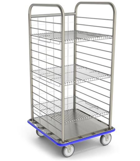 Open Case Cart With Wire Shelves Surgical Case Carts