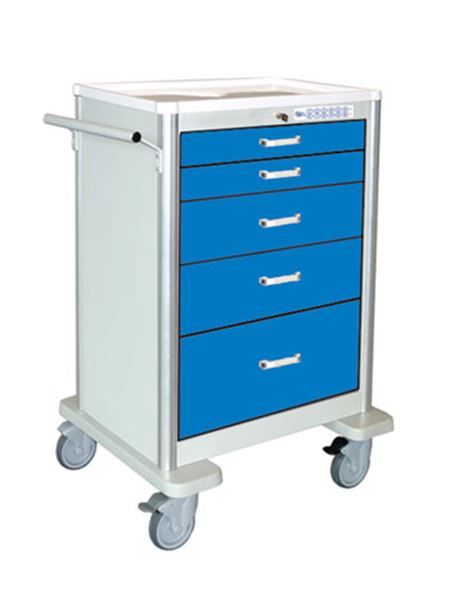 Waterloo 5-Drawer Electronic Locking Crash Cart