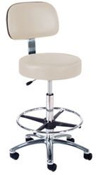 Intensa 863 Lab Stool: Single Lever Hand Release