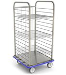 Open Case Cart with Wire Shelves